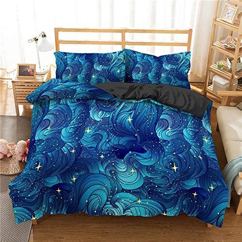 YUXO Duvet Set Bedding Sets Colorful Marble Bed Set Abstract Art Duvet Cover Set Queen King Size Bedding Set 3d Bedclothes Bedroom Bedlinen 1014 (Color : 6, Size : US Full 203x228cm)