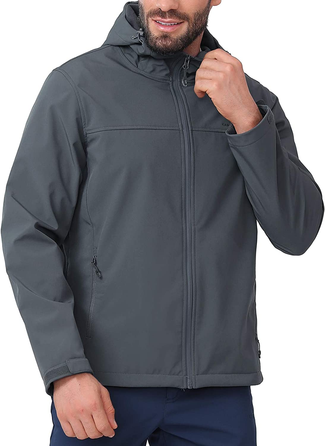 CAMEL CROWN Mens Challenge the lowest price of Japan Softshell Jacket Fleece Lined Bombing free shipping Waterproof Windpr
