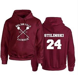 Divertente Lacrosse Felpa con cappuccio adulto Stilinski Lacrosse # 24 Felpa con cappuccio Felpa con cappuccio Stilinski L...