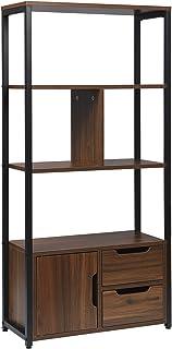 WOLTU RGB09dc Étagère de rangement avec armoire et tiroirs,étagère de cuisine étagère de bureau en métal et MDF 58x24x120c...