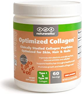 Hair, Skin and Nails Collagen Peptides Powder, Unflavored - Tested for Hormones - Paleo and Keto Friendly - New, Patented ...