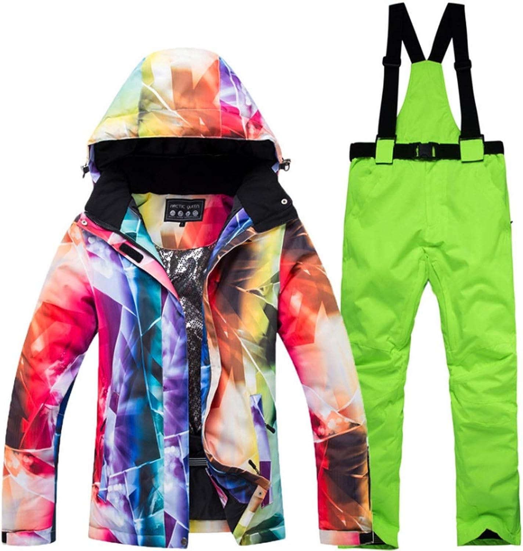 CEFULTY Women's Waterproof Breathable Snowboard Ski Jacket for Rain Snow Outdoor Hiking