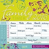 Family Timer Floral - Broschur Kalender 2016 - Korsch-Verlag - offen 30 cm x 60 cm