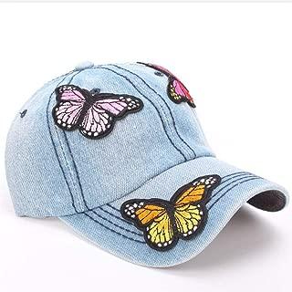 Women's Baseball Cap Snapback Butterfly Cowboy Hat Summer Hat Hip-Hop Adjustable Cap Sun Bone