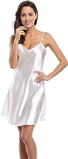 CostumeDeals KimonoDeals Women s dept Satin Nightshirts Camisole Nightgown  Chemises Slip Sleepwear f6bb9c769