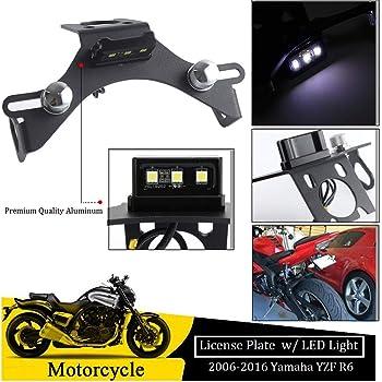 UbuyMotor Universal Motorcycle Accessories CNC Adjustable License Plate Holder Fender Eliminator Bracket/for Honda KTM Yamaha Suzuki Ducati BMW