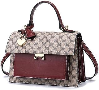 Shoulder Bag Women's Shoulder Crossbag Bag Handbag, Leather Simple Fashion Large Capacity Ladies Bag Handbag Clutch (Color : Khaki)