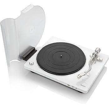 Denon DP-450USB (White) Semi-Automatic Analog Turntable | USB Output for Recording | Speed Auto Sensor | Specially Designed Curved Tonearm | 33 1/3, 45, 78 RPM (Vintage) Speeds