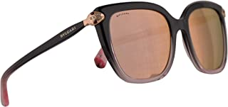 Bvlgari BV8207-B Sunglasses Black Gradient Pink w/Grey Mirror Rose Gold 53mm Lens 54494Z BV8207B 8207B BV 8207-B Bulgari