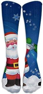 Unisex muñeco de Nieve y Abuelo hasta la Rodilla Calcetines de Invierno no Imprimir en 3D Medias Deportivas largas Navidad Hermosa 8817