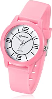 Girls Analog Watch,Kids Girls Boys Students Waterproof Learning Time Soft Strap Wrist Watch for Child Ages 6-15 as Gift