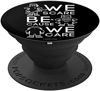 Disney Pixar Monsters Inc CDA Troops We Scare We Care - PopSockets Grip and Stand for Phones and Tablets