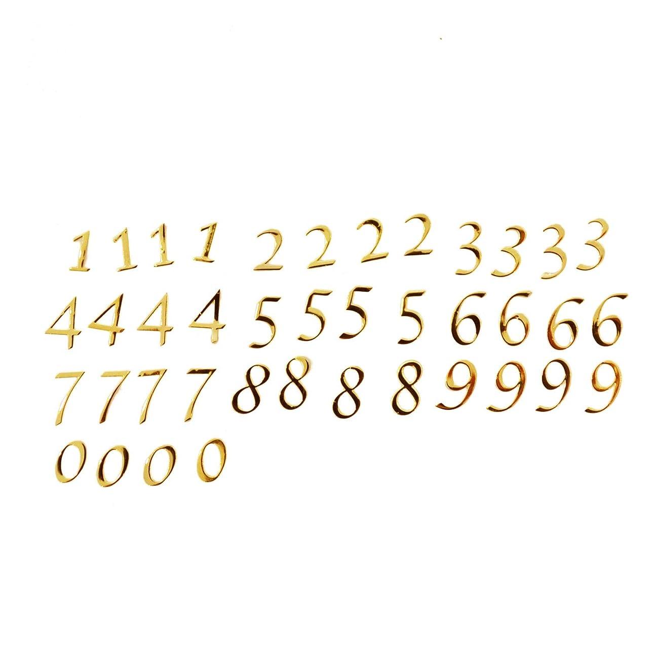 拡声器哲学的目立つ数字のメタルパーツ0から9まで4枚ずつ、合計40枚セット