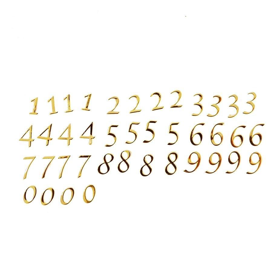 首相殉教者良心数字のメタルパーツ0から9まで4枚ずつ、合計40枚セット