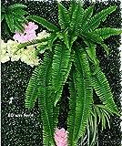 HJJACS Plantas Colgantes Verdor Artificial Plantas de Hierba de Helecho Colgante Planta de Pared Verde Plantas de setos Artificiales de Seda Grandes