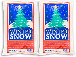 FloraCraft, 4 Liters, Plastic Snow (Pack of 2)