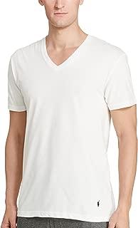 Mens 3-Pack Slim Fit V-Neck White Large