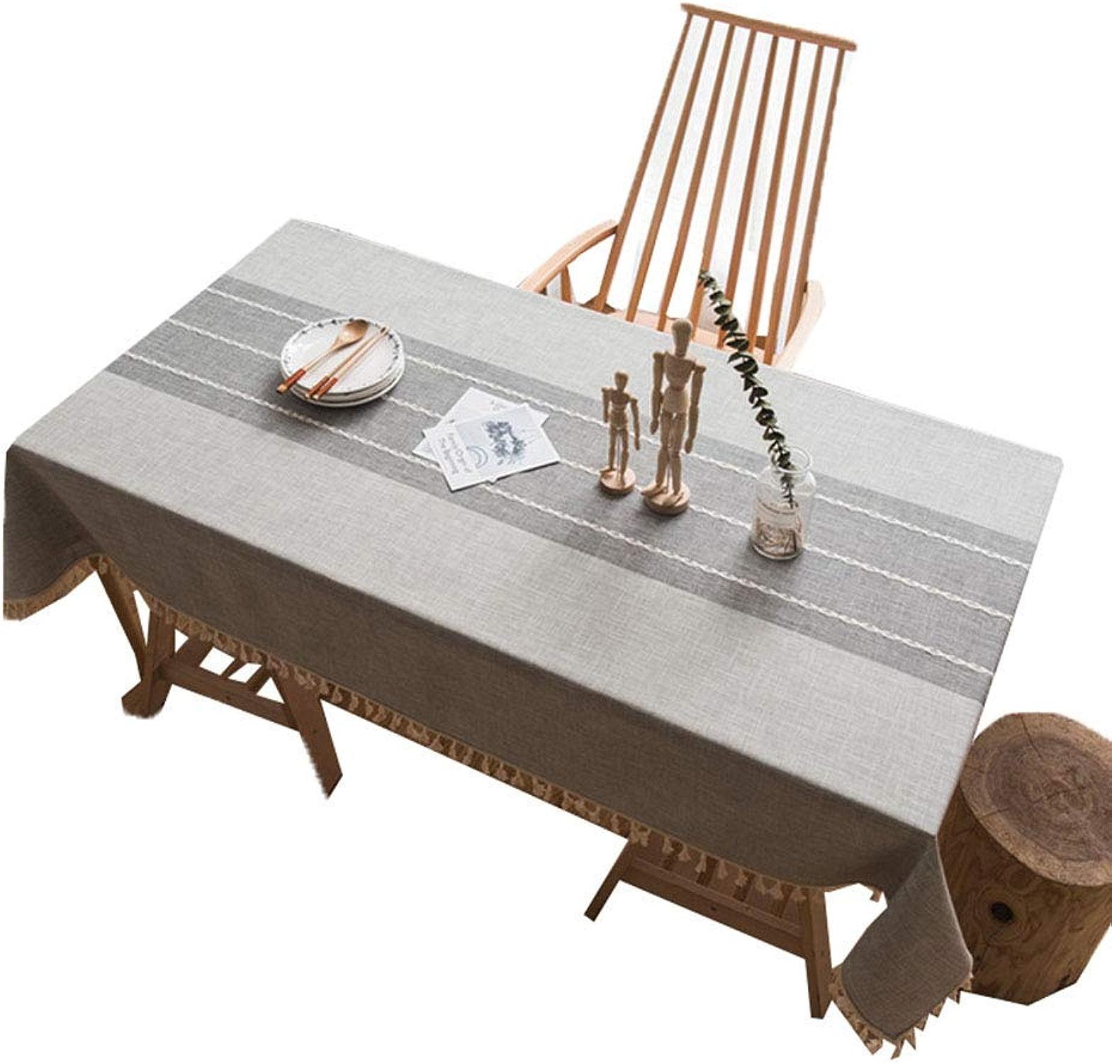 Wghz de plein air Table Cloth - Nappe en Tissu poussière, Anti-saleté, Anti-Huile Facile à Entretenir Douce et Respirante, Nappe de Pique-Nique pour l'intérieur et l'extérieur, gris_100x140cm