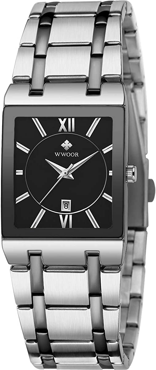 Square Watches for Large discharge sale Men and Stainless Mens OFFicial store Women Wat Steel