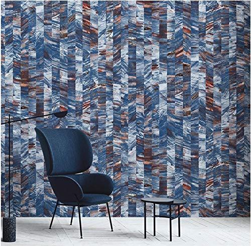 Vlies Tapete 3D Wandtapete Gemaltes Gitter Tapete TV-Hintergrund Jean Blue Tapete für Verzieren Küchen-Schlafzimmer-Wohnzimmer 9.5mx0.53m