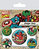 Marvel Retro - Badge Pack Spider-Man, 4 x 25 mm & 1 x 38 mm