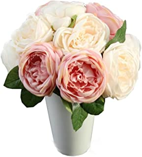 Amazon Fr Bouquet Fleurs Bleu Rose