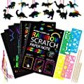 TAODUDU Rainbow Scratch Art for Kids Gifts, Scratch Off Books Classroom Arts Supplies Kits Colorful Crafts for Girls and Boys Ages 3-12 Will Enjoy Express Their Arts (Rainbow)