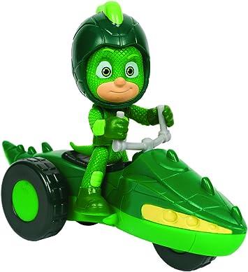 PJ Masks PJU003 vehículo de juguete - Vehículos de juguete (Verde, Motocicleta, Interior, 3 año(s), Niño/niña, China)