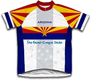 ScudoPro Arizona Flag Short Sleeve Cycling Jersey for Men