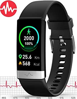 MorePro ECG Fitness Tracker HRV,HD Color Screen Activity Tracker with Heart Rate Blood Pressure,Waterproof Health Watch,Sleep Monitor Pedometer Step Counter for Men Women Android iOS