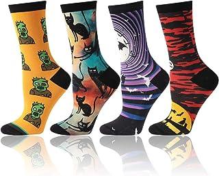 Calcetines para hombre y mujer, divertidos y coloridos calcetines de la tripulación 4/5/6 pares