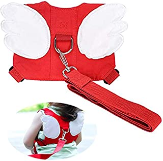 Etgu Hot Baby Safety Walking Harness-Child Toddler Anti-Lost Belt Harness Reins with Leash Kids Assistant Strap Angel Wings Travel Haress for 1-4 Years Boys and Girls (red)