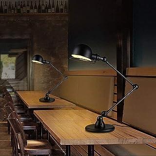 Lampe de Table Manipulateur de Style Industriel rétro Double Section E14 Lampe de Table Apprentissage Chambre Lampe de Che...