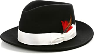Best white fedora hat with black band Reviews