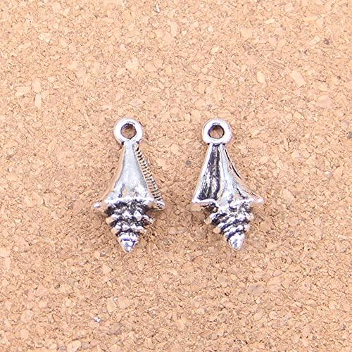 WANM Colgante 12 Uds Encantos Cono De Pino 21X11X6Mm Colgantes Antiguos Vintage Plata Tibetana Joyería DIY para Collar Pulsera
