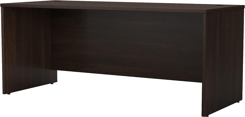 Bush Business Furniture Studio C Office Desk, 72W x 30D, Black Walnut