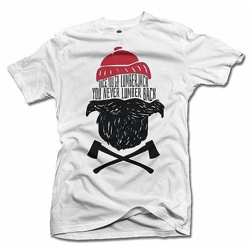 8fa595bda Once You Go Lumberjack You Never Lumber Back Funny Beard T-Shirt Men's Tee (