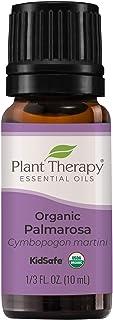 Plant Therapy Organic Palmarosa Essential Oil 10 mL (1/3 oz) 100% Pure, Undiluted, Therapeutic Grade