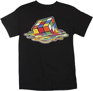 Rubik Cube Melting Retro Vintage Funny Black T-Shirt For Puzzle Lovers S-6XL