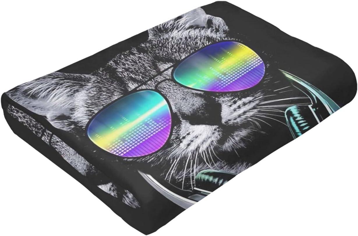 Dj Cat online shop with Earphone Pet Animal Micro Bl Black Fleece Ultra-Soft Max 45% OFF