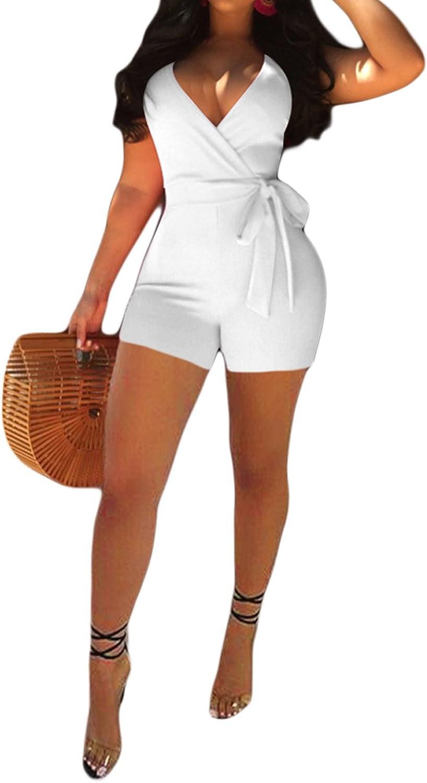 IyMoo Womens's New popularity Jumpsuits Sexy Deep Sleeveless V online shopping Spaghetti S Neck