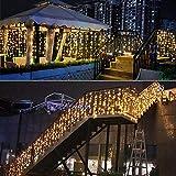 BLOOMWIN Guirnaldas Cortina de Luces 256 LED 6m * 1m 6V Bajo Voltaje con 8 modos Luces de Navidad Cadena Hadas Interior...