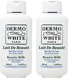 Dermo White Paris Beauty Milk Lotion 500ml/16.80oz (Pack of 2)