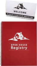 Open House Registry - Spiral Bound - Includes Welcome, Please Sign Our Registry - Double Sided Tent Card - Great Prospecti...