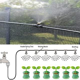 HDT Misting System Patio Deck Porch Outdoor Cooling Mister Kit Air Mist Water Tubing 20FT 6pcs Mist Brass Nozzle (0.4mm Nozzle)