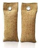 Rummershof Ambientador de bambú con carbón Activo | Filtro de Aire para el hogar, Coche, Cocina, Zapatos, refrigerador, baño. | Libre de emisiones | 100% Biodegradable