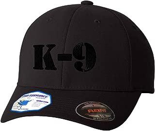 K-9 Black Logo Flexfit Adult Pro-Formance Hat Black Large/X-Large