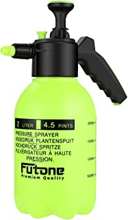Futone 0.5 Gallon Hand Held Garden Sprayer Water Pump Pressure Sprayers for Lawn and Garden - (2.0L Lime Yellow)