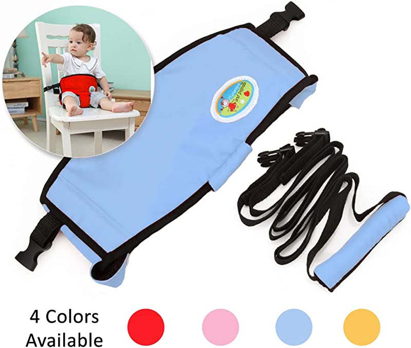 Furrybaby Portable Baby High Chair Belt 3 In 1 Safe Feeding Strap Toddler Walking Harness Grocery Cart Safety Strap Blue