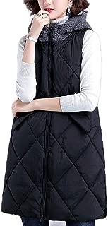 Howely Womens Zip Up Hoodie Winter Coat Puffer Coat Sleeveless Vest Jacket